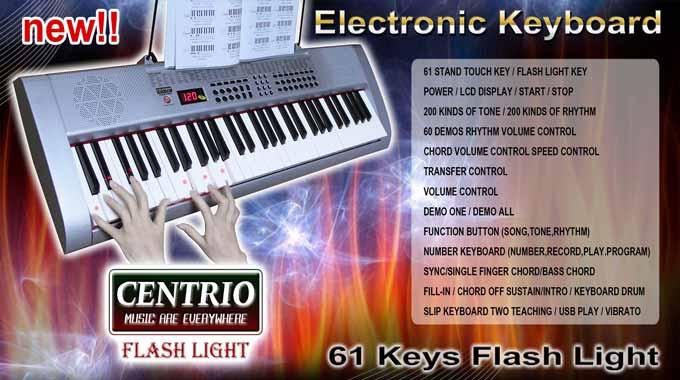 แนะนำ คีย์บอร์ด อิเล็กโทน CENTRIO - Flash Light 61 Keys รุ่นใหม่