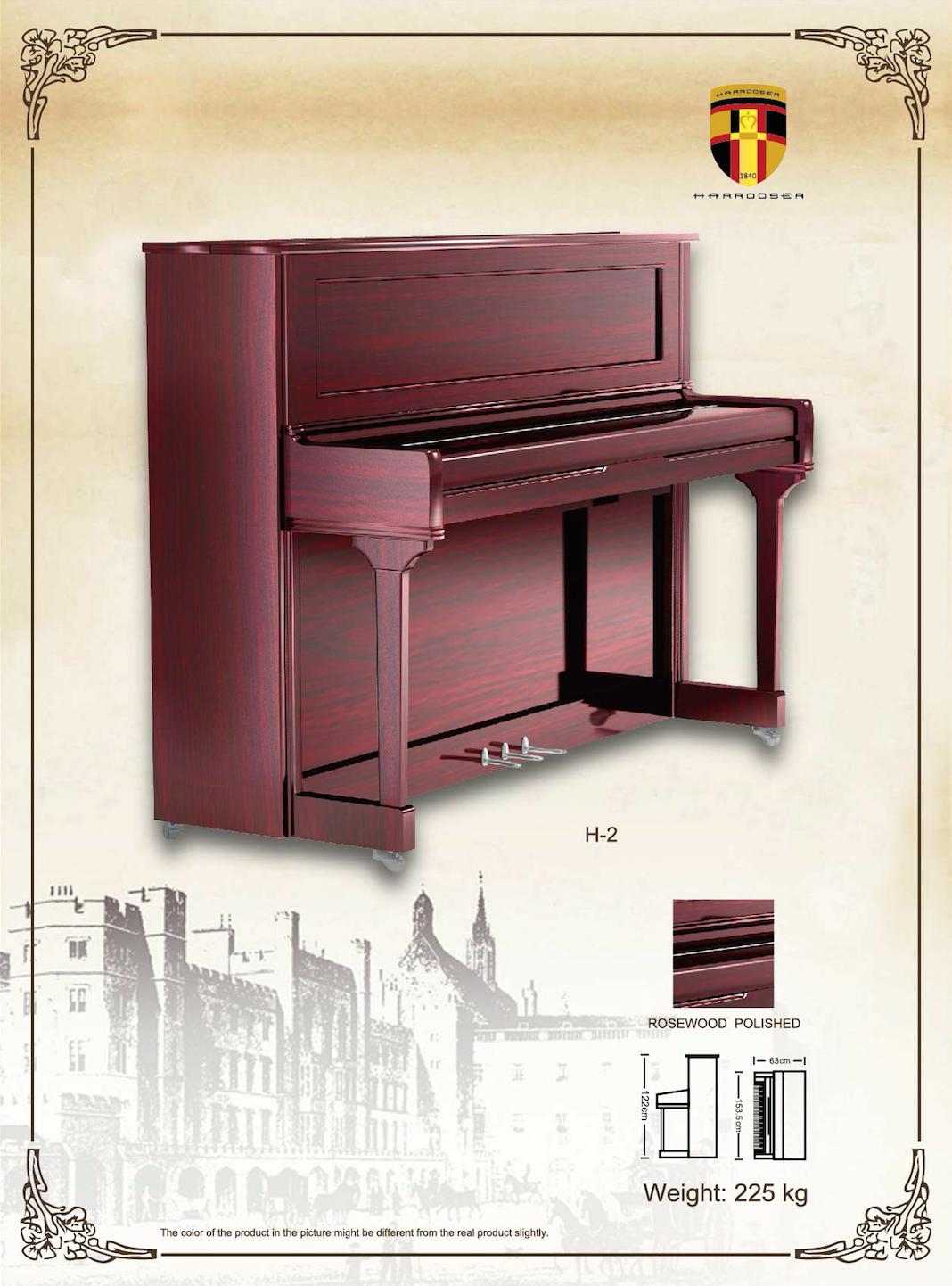 เปียโน Upright Piano Harrodser H-2R Spec